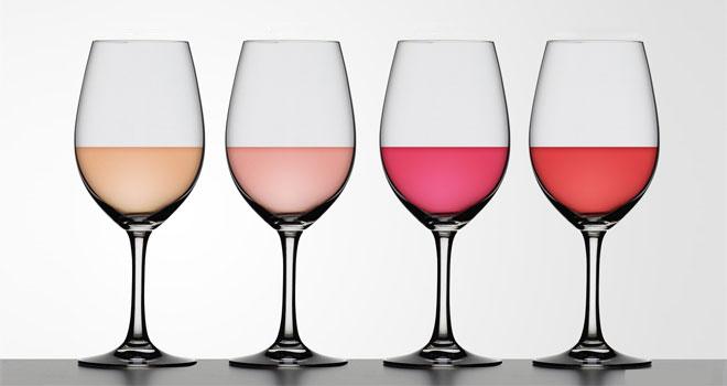 ροζέ κρασί χρώματα